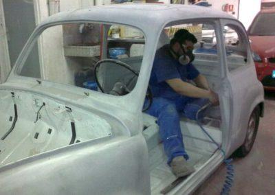 Restauración de Seat 600 Abarth
